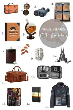 Best travel inspired gifts that will impress every man. Great ideas for Holidays, Birthdays and pretty much any occasion.