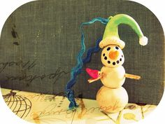 polymer clay snowman ornaments