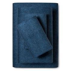 Flannel Sheet Set (King) Heathered Blue - Threshold