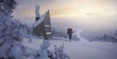 Huba - Mountain Shelter by Michal Holcer & Malgorzata Blachnicka