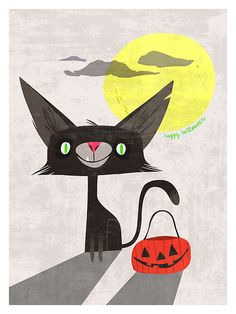 Cats enjoy trick-or-treating, too!