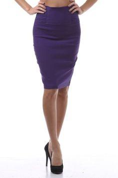 Sharp High Waist Zip Up Business Professional Officewear Pencil Skirt S M L