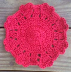 "One Crochet day at a Time ""BlueDragonFly Designs on a Hook"": HEARTS GO ROUND DISHCLOTH"