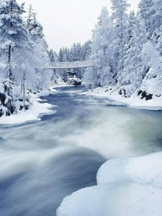 One More Snowy Winter Scene, I could imagine myself walking along the banks.  I could look at this scene for hoursl