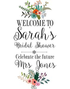 Printable Sign Bridal Shower By Customprintstudio Signs