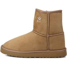 New Premium Light Brown Faux Suede Fur Snow Winter Womens Short Boots 75 * Check out this great product.