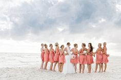 Dear Wesleyann | Rosemary Beach Wedding Photographer | Seaside Wedding Photographer | Alys Beach Photographer | Destination Wedding Photographer  Carillon Beach Wedding Coral J. Crew bridesmaid dresses