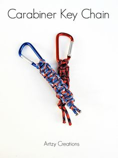 Easy to make Carabiner Key Chain for just around $2.00.  Great for Dad, boyfriends, and anyone outdoorsy.