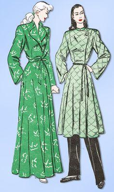 1940s Vintage Butterick Sewing Pattern 4249 Uncut Misses Housecoat Size 32  Bust  Butterick Vintage Dress 448aa9f30