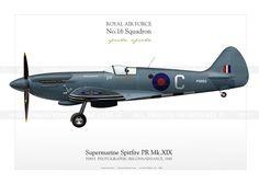 Spitfire PR Mk.XIX PS853 NA-18 Ww2 Aircraft, Fighter Aircraft, Military Aircraft, Fighter Jets, Cienfuegos, The Spitfires, Aircraft Painting, Supermarine Spitfire, Ww2 Planes