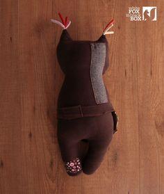 Stuffed Reclaimed Fabric Doll от WhiteFoxInBlackBox на Etsy