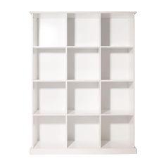 Abbeville Twelve Cube Storage - White