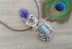 Amethyst Swirly Labradorite Woodland by EnchantedEvolution11
