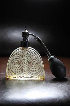 ♂ unique Vaporisateur art deco Marcel Franck - Art deco Marcel Franck perfume atomizer/bottle (by Glassholic)