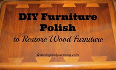 DIY Furniture Polish to Restore Wood Furniture has only 2 ingredients and is super easy to make.