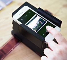 #Smartphone Film #Scanner – $75 / If you're a shutterbug who can't choose between film and digital, meet your new best friend. http://thegadgetflow.com/portfolio/smartphone-film-scanner-75/