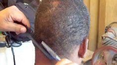 Corte De Cabelo Afro -Técnica Do Pente Corrido Passo A Passo