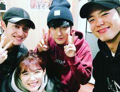 kwak dong yeon, kim yoo jung, jinyoung (B1A4) y park bo gum