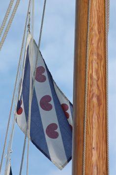Handdoek Friesland bedrukt met Friese vlag