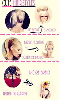 Cute hair for spring and summer.