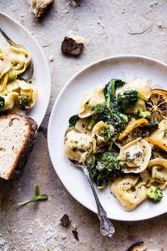 Best Easy Broccoli Cheese Tortellini with Fried Lemon | halfbakedharvest.com @hbharvest