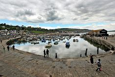 Precious stone harbor at Lyme Regis, on the southwest coast in Dorset, England