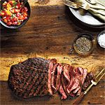 Spice-Rubbed Flank Steak with Fresh Salsa Recipe | MyRecipes.com