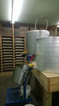 When we first started making soap we were using pots and pans, now we have commercial equipment.