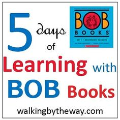 """BOB Books ~ Printables for Set 1, Books 1-3.... I am so excited about this. We started """"reading"""" BOB books recently and this will be such a great help to make learning fun! Thanks @Ami Brainerd"""
