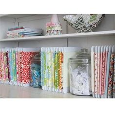 Convert your jumbled fabric stash into a well-ordered collection of mini-bolts -- youll feel like you have a mini fabric store inside your house!