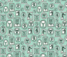 ©  Copyright  Andrea Lauren -  You are permitted to sell items you make with this fabric, but request you credit Andrea Lauren as the designer. Coordinates: Solids -- Warm, Solids - Cool, Dots  View other woodland animal fabrics here