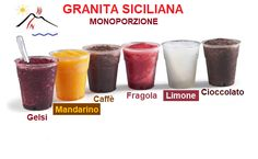 Granita monoporzione 150gr Granite, Shot Glass, Poster, Tableware, Gastronomia, Dinnerware, Granite Counters, Dishes, Place Settings