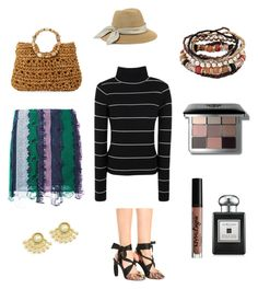 """""""on vacation yeayy"""" by aidafitriyah on Polyvore featuring Versace, Dries Van Noten, Eugenia Kim, Cappelli Straworld, Bobbi Brown Cosmetics, NYX and Jo Malone"""