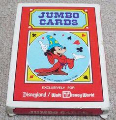 VINTAGE MICKEY MOUSE JUMBO PLAYING CARDS - WALT DISNEY