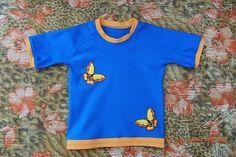 Выкройка детской футболки с рукавом реглан, р-р 86, 92, 98, 104