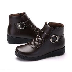 Buckle Decoration Fur Lining Zipper Ankle Short Boots is hot-sale. Come to NewChic to buy womens boots online. Boots Online, Short Boots, Types Of Shoes, Timberland Boots, Georgia, Ankle Boots, Plaid, Fur, Zipper