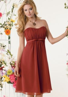 Love this Rust Red Color and actually love the dress!