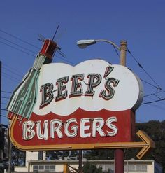 Beep's Burgers neon sign - San Francisco, CA