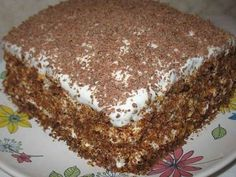 Well, very delicious cake! Ingredients: — 100 g butter — Bank of condensed milk — 2 eggs — 1 Cup of flour — tsp of baking soda — tsp cocoa Cream: — 300 g of sour cream — 150 g of sugar CAKE «DREAM OF LIFE Russian Cakes, Russian Desserts, Russian Recipes, Romanian Desserts, Romanian Food, Baking Recipes, Cookie Recipes, Dessert Recipes, Hungarian Cake