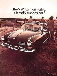 "8.5 x 11/"" 1967 Volkswagen Karmann Ghia  If There Is A Bump Original Print Ad"