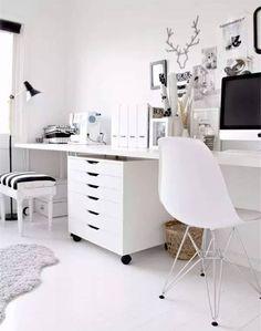 Home office white Scandinavian Dicas Pra Entrar Em 2017 Com Home Office Organizado Pinterest 783 Best Home Office Images Office Home Home Office Decor Desk