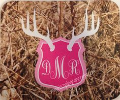 A great accent for your computer, our Pink Antler Mount Real Camo monogrammed mousepad will add some vavoom to your room! We make a brown antler mount mousepad too! #pinkcamo #realcamo #antlermount