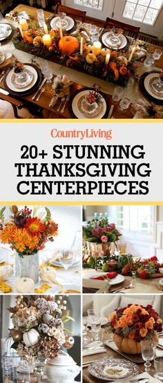 Save these stunning Thanksgiving centerpieces for later! Don't forget to follow Country Living on Pinterest for more Thanksgiving ideas.