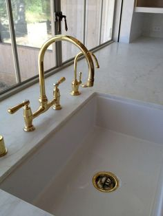 faucet in unlacquered brass. #patinafarm