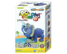 Create your own wild Elephant from the savannas of Africa using the world's most advanced air drying modelling clay - JumpingCLAY.