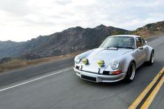Tamas Opra's RSR-spec themed 1969 Porsche was built for one purpose: to slice through the canyons of the Santa Monica Mountains. Santa Monica Mountains, Vintage Porsche, Porsche Cars, Modified Cars, Classic Cars, Porsche Classic, Sport Cars, Cool Cars, Convertible