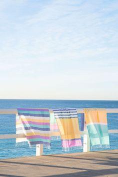 Beautiful beach blankets ...