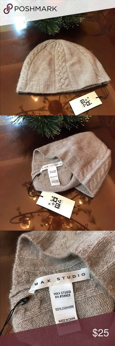 New with tag 100% cashmere beanie New with tag 100% cashmere Max studio beanie Max Studio Accessories Hats