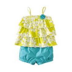 JUST ONE YOU ™ Made by Carters ® Infant Girls Short Set - Green/Turquoise