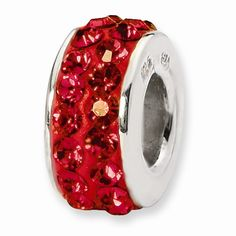 Reflection Beads: Sterling Silver Double Row Red Swarovski® Elements